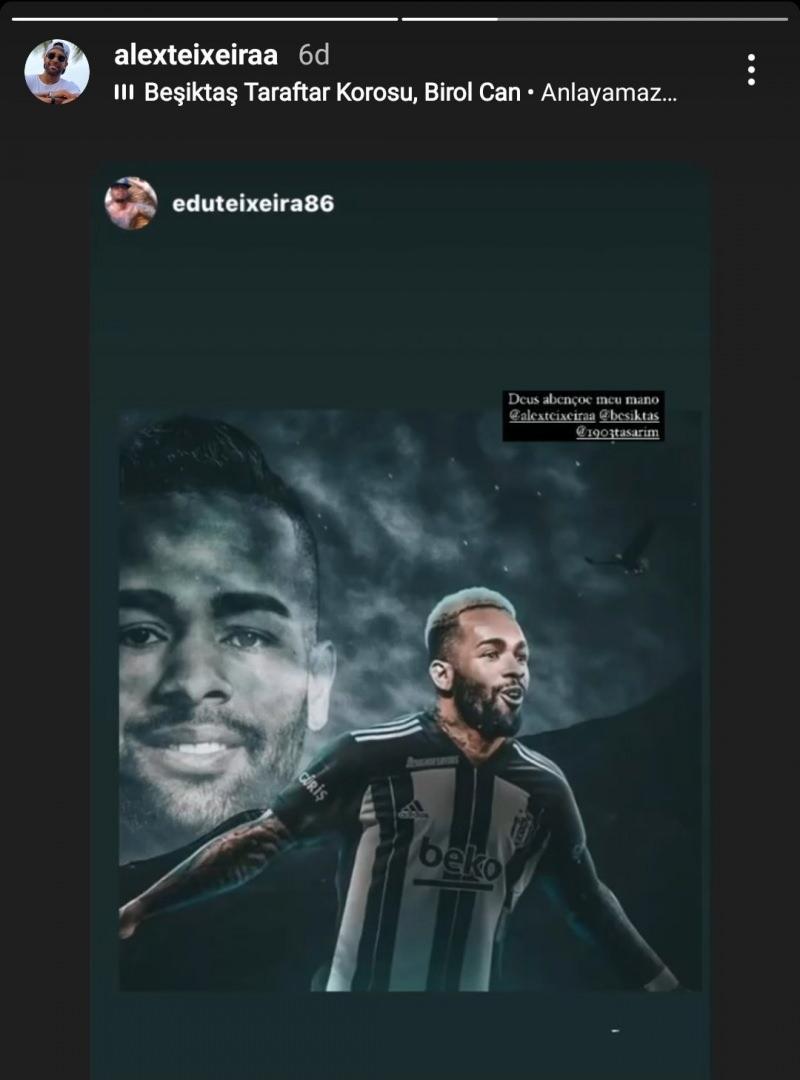 Alex Teixeira'nın Beşiktaş paylaşımı