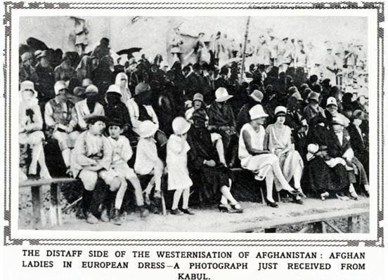 1920'lerde Afganistan'da bir resmi tören.