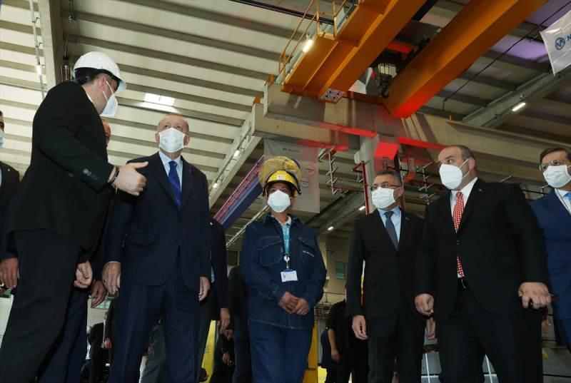 Cumhurbaşkanı Recep Tayyip Erdoğan, Ankara 2. Organize Sanayi Bölgesi'nde 26 yeni fabrika ve altyapıların açılış törenine katıldı.