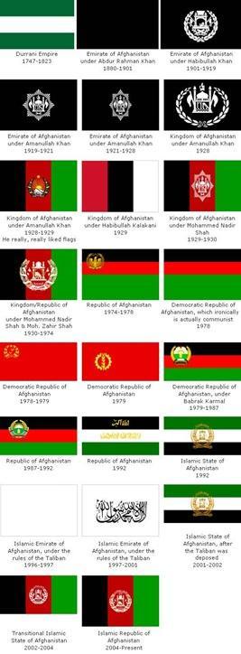 Afganistan'ın bayrağı ve adı son 120 yılda 23 kez değişti