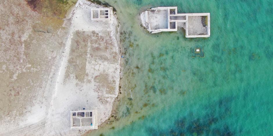 Elazığ'da sular çekildi, 75 yıllık okul ortaya çıktı
