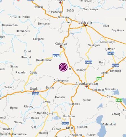 Son dakika: Kütahya'da deprem!