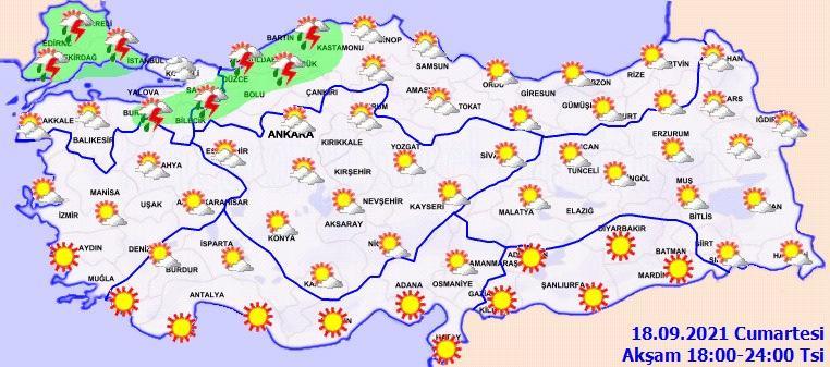 Meteoroloji, Trakya ve İstanbul için bu akşam kuvvetli yağış uyarısı yaptı.