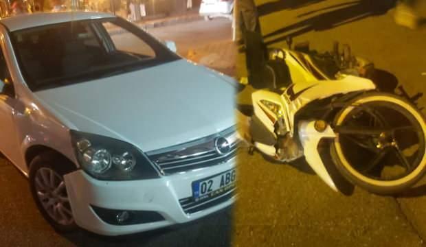 Adıyaman'da motosiklet ile otomobil çarpıştı