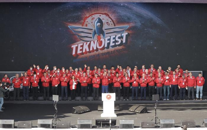 Cumhurbaşkanı Recep Tayyip Erdoğan TEKNOFEST'te