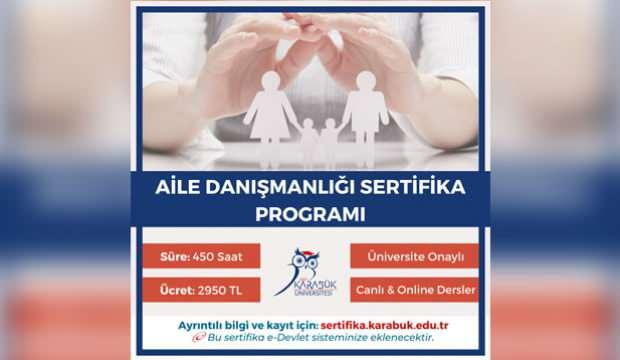 Karabük Üniversitesi Aile Danışmanlığı Sertifika eğitimi başvuruları başladı