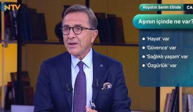 Prof. Dr. Müftüoğlu'ndan en çok merak edilen soruya cevap: Aşının içinde ne var