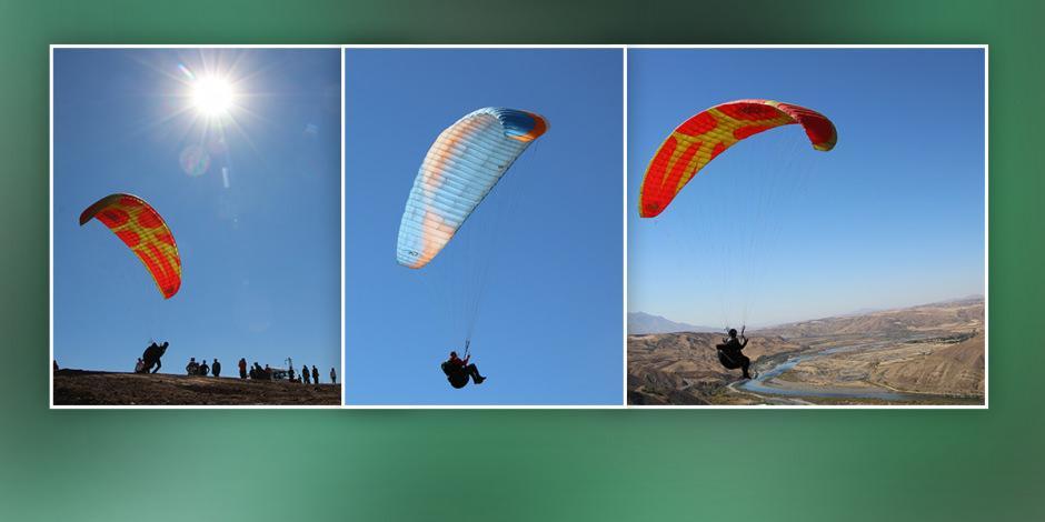 Elazığ'da gökyüzü renklendi!