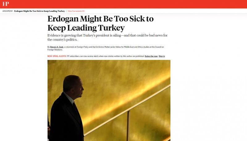 Foreign Policy'de çıkan yazının başlığı şöyle: