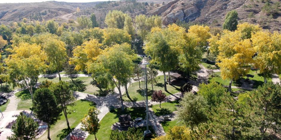 Sivas'ta kartpostallık sonbahar manzarası