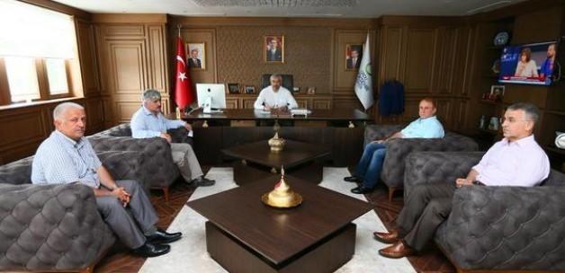 Ordu Büyükşehir Belediye Başkanı Yılmaz'a ziyaretler
