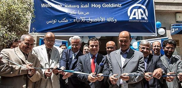 Anadolu Ajansı Tunus bürosu törenle açıldı