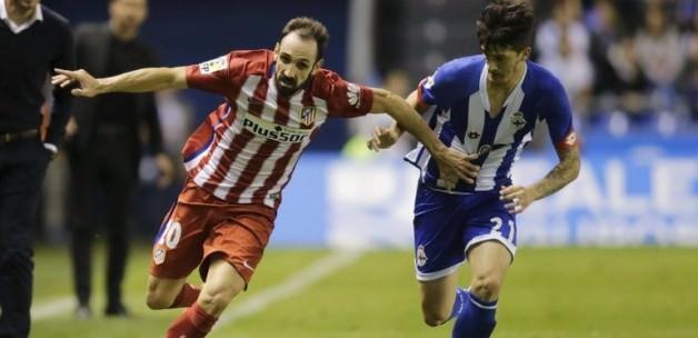 Atletico, Deportivo deplasmanında kayıp verdi