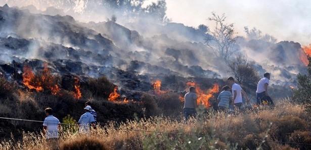 Makilik alanda çıkan yangında bir kişi öldü