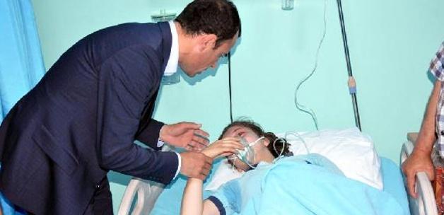 Çocuklar gaz bombasından hastanelik oldu