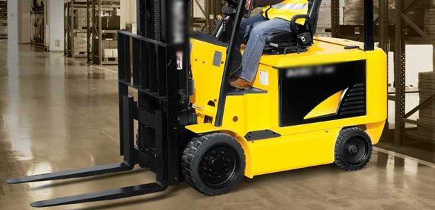 Forklift kazasında işçinin ayağı koptu