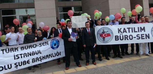 İstanbul Adliyesi'nde balonlu eylem