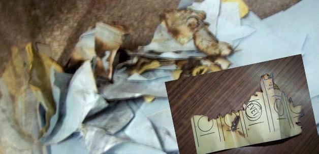 Toprakkale'de oylar yakıldı!