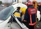Akyazı'da trafik kazası: 2 yaralı