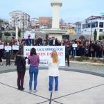 """Kırklareli'de """"kadın cinayetleri"""" protesto edildi"""
