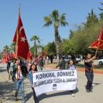 Antalya'da teröre tepki yürüyüşü