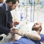 Enerji Bakanı Albayrak yaralıları ziyaret etti