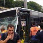 İstanbul'daki metrobüs kazasından ilk görüntüler