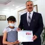 Lösemi hastası Gül'den Altınsoy'a ziyaret