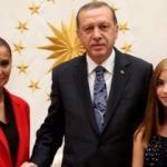 Erdoğan, Hande Fırat'ı Külliye'de kabul etti