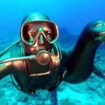 Mustafa Koç ve Badem su altında buluştu