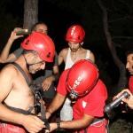 Muğla'da kayalıklarda mahsur kalan kişi kurtarıldı