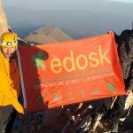 Edirneli dağcılar Erciyes'e tırmandı