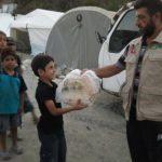 İHH'dan Bayırbucak Türkmenlerine ekmek yardımı