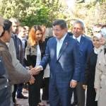 Davutoğlu'ndan Sarayönü'ne ziyaret