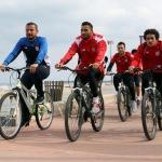 Samsunspor kupa maçına bisikletle hazırlandı