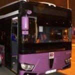 Belediye otobüsüne molotof attılar