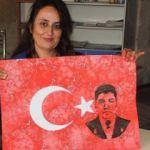 Şehit Halisdemir'i ebruyla resmetti