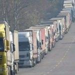 Bulgaristan'a açılan sınır kapılarında tır kuyruğu
