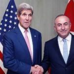 Çavuşoğlu Kerry ile Brüksel'de baş başa görüştü