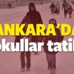 Ankara kar tatili haberleri! Yarın okul var mı? 23 Aralık