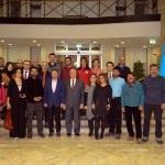 Nahçivan Başkonsolosu Erşen'e AA'nın yıllığı hediye edildi