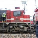 Bilecik'te lokomotif yangını