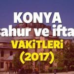 Konya Ramazan İmsakiyesi 2017 Konya iftar ve sahur vakti