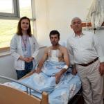 Göğüs kafesi kırılan işçi tedavi edildi