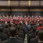 Cumhurbaşkanı Erdoğan'ı o müzikle karşıladılar!