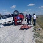 Aksaray'da kamyonet devrildi: 1 ölü, 1 yaralı
