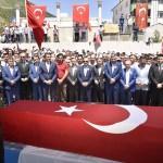 Tunceli'de teröristlerin katlettiği öğretmen için cenaze töreni
