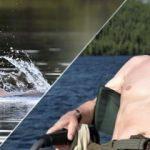 Vladimir Putin balığa çıktı, stres attı!