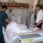 Kaymakam Özkan yaralı askerleri ziyaret etti