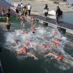 Yüzücüler Seyhan Baraj Gölü'nde kulaç attı